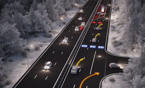 Разметкус - интерактивное шоссе