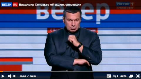 Владимир Соловьев об акциях …