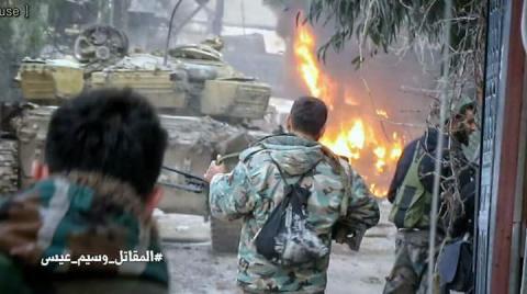 Кадры боев: Армия Сирииконт…