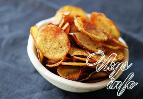 Чипсы в микроволновке из картофеля