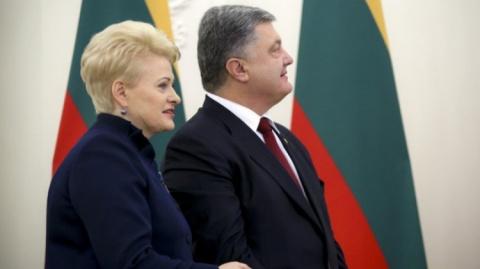Президент Литвы Грибаускайте…