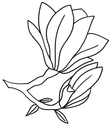 Шаблоны цветов для росписи и другого рукоделия