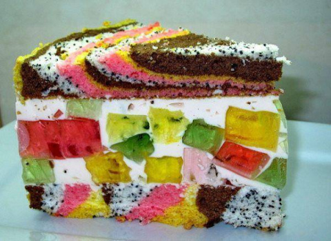 Очень вкусный и нежный торт «Цыганская тропа». Такую красоту даже жалко есть!