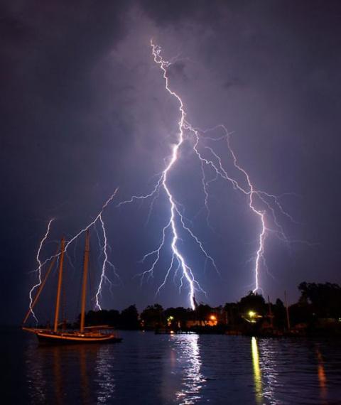 Молнии и штормы