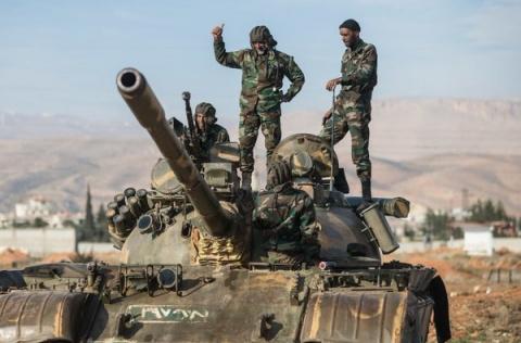 Армия Сирии при поддержке ВК…