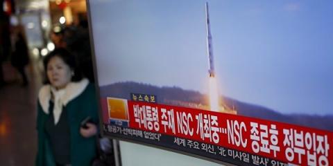 Ракета КНДР упала в 500 км о…