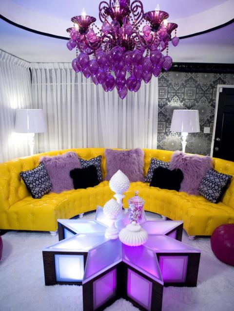 Гостиная в фиолетовом...