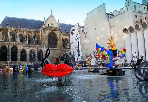 Необычный Париж: Фонтан Стравинского