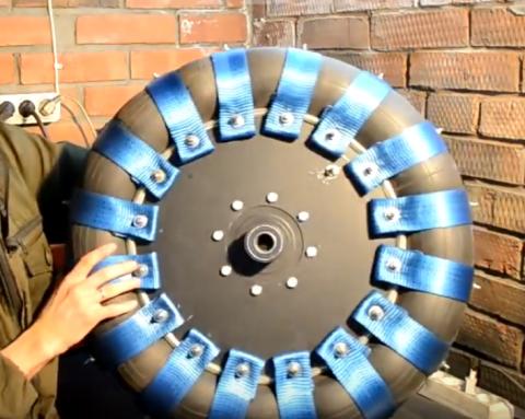 Самодельные колеса из камер УАЗа