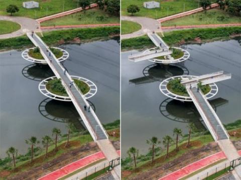Необычный мост у штаб-кварти…