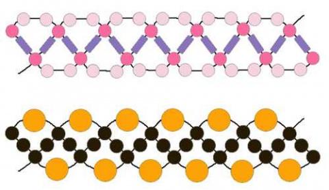 Схемы узоров из бисера