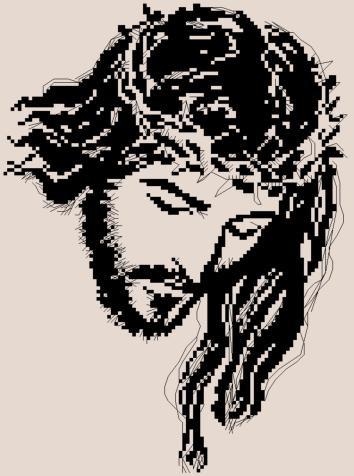 Иисус Христос монохром