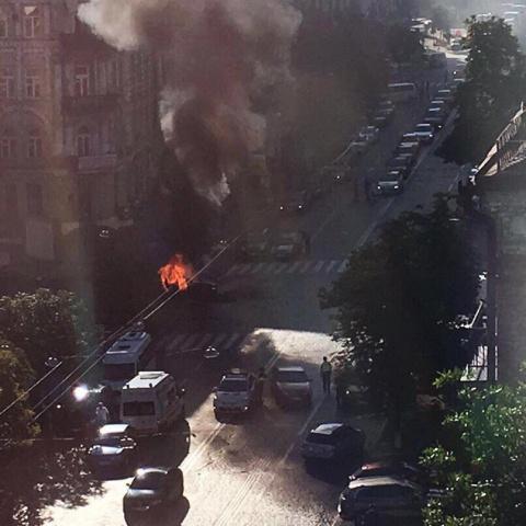 В Киеве был подорван автомоб…