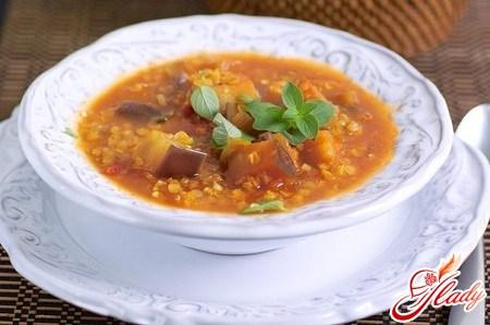 Варианты приготовления супа с баклажанами