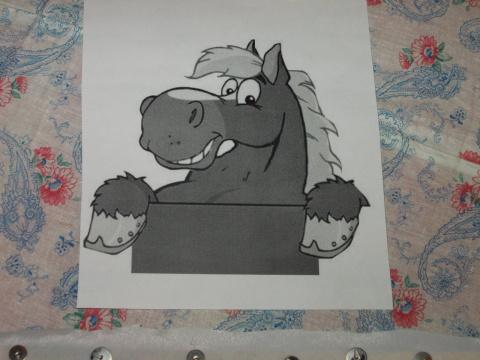 Cиняя новогодняя лошадка