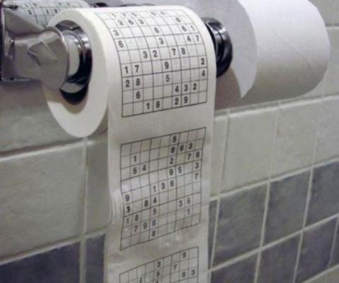 Скучно в туалете? Тренируйте мозг