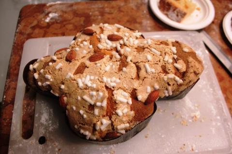 Пасхальный кекс с сухофруктами