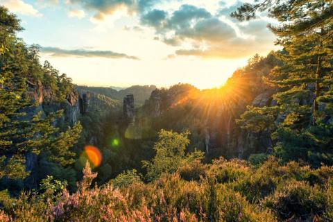 Национальный парк Саксонская Швейцария. Каменные «игрушки» сказочного великана