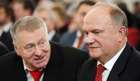 Жириновский сцепился с Зюган…