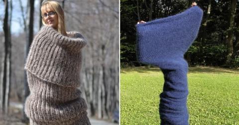 Гигантский шарф на все тело …