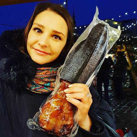 Глафира Тарханова поделилась находкой на съемках в Таллине