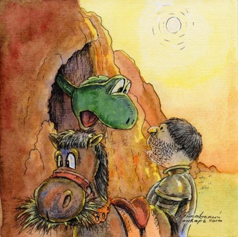 -Дракон!- прокричал Рыцарь в глубину пещеры.- Выходи, если не трус! (Бормор©)