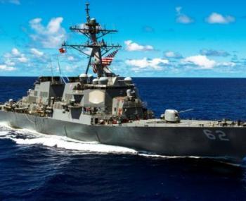 У берегов Японии эсминец США…
