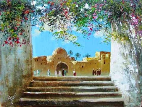 Узбекский художник Кабул Адилов