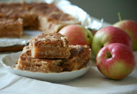 Постный насыпной пирог с ябл…