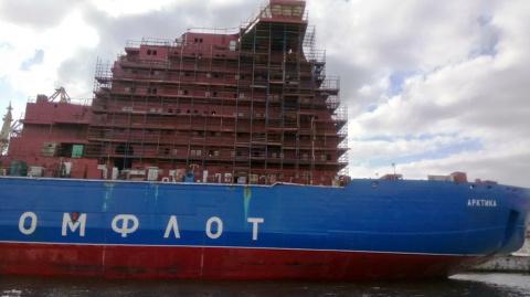Атомный ледокол «Арктика» проекта 22220 в достройке