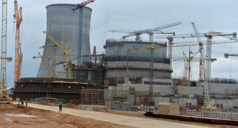 Атомная станция в Белоруссии…
