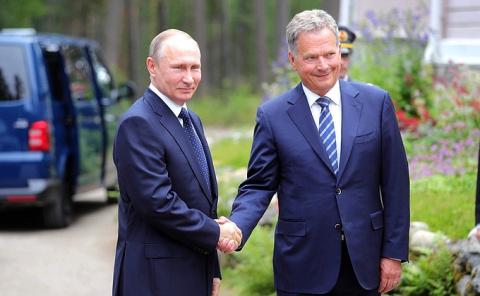 Путин провел переговоры с финским коллегой