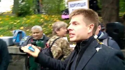В Киеве закидали яйцами одес…