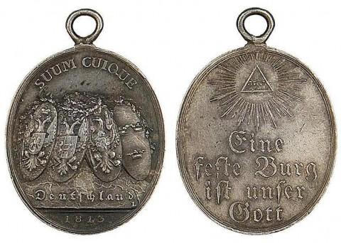 Медаль «За Лейпцигское сражение». 1813 год