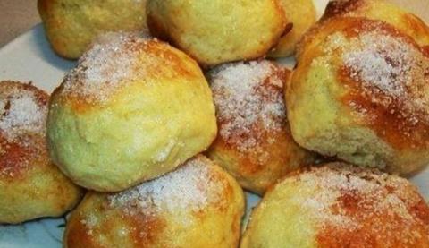 Аппетитные творожные булочки…