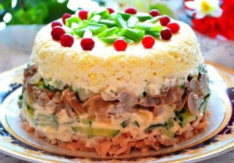 Салат «Ирина» — очень нежный салат