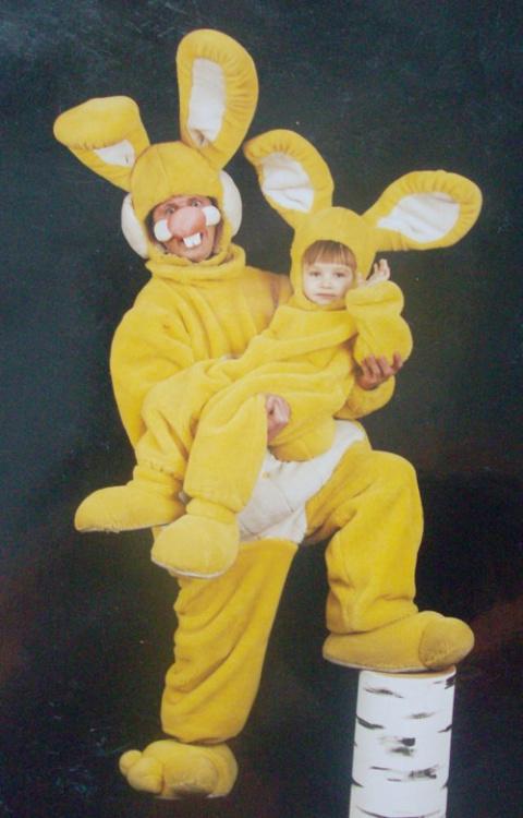 Заяц с зайчонком