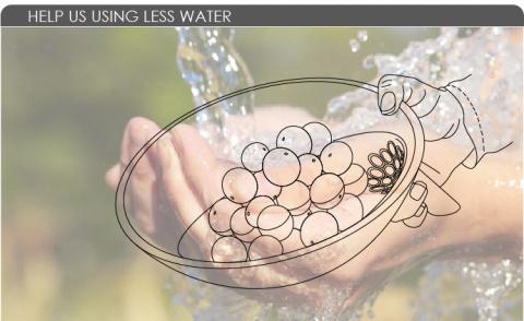Обновленный дуршлаг поможет экономить воду