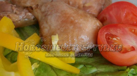 Курица с медом и имбирем