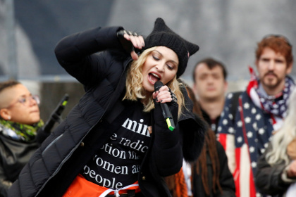 Мадонна нецензурно обругала Трампа в прямом эфире CNN