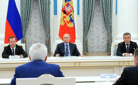 Новости недели - Встреча с лидерами партий, прошедших по итогам выборов в Госдуму