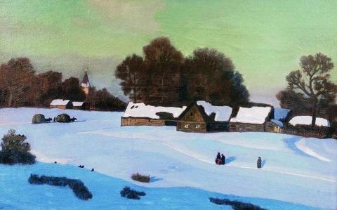 Зима в картинах русских худо…