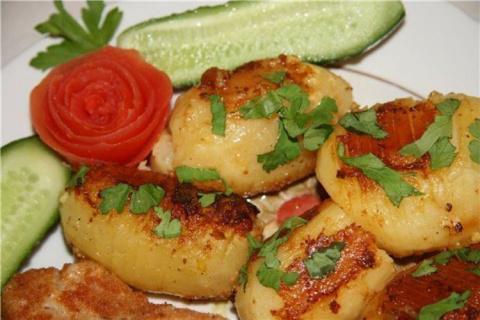 Картофель печёный по-шведски