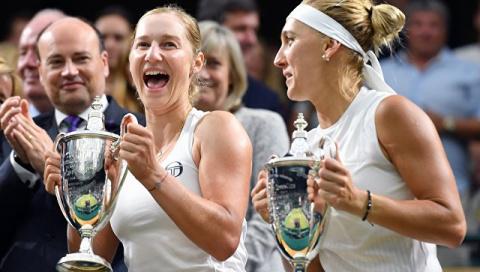 Веснина и Макарова впервые выиграли Уимблдонский турнир в парном разряде