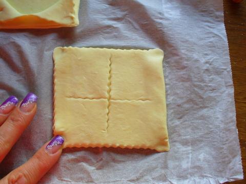 Тартарлетки без формочек , из слоёного теста ... Фото-рецепт. Olga Dell