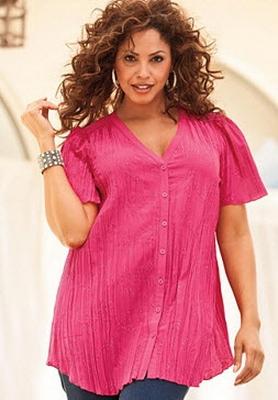 Модели блузок для пышных дам