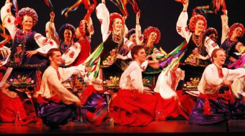 Танец народа России на украи…