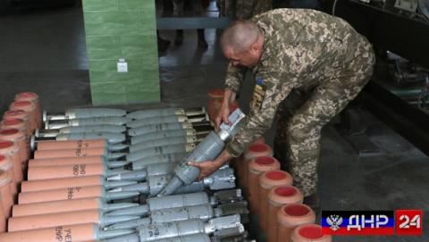 Украинские военные разместили склад с боеприпасами под Луганском