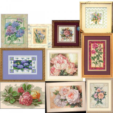 Цветы - схемы вышивка крестом