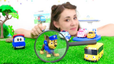 Видео про игрушки. Смотри, как Валя и Чейз Щенячий Патруль спасают Грузовичка Лёву!